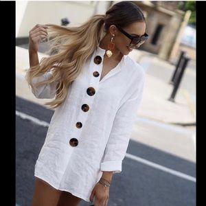BLOGGERS FAV! GORGEOUS ZARA NWT Linen Tunic/Dress